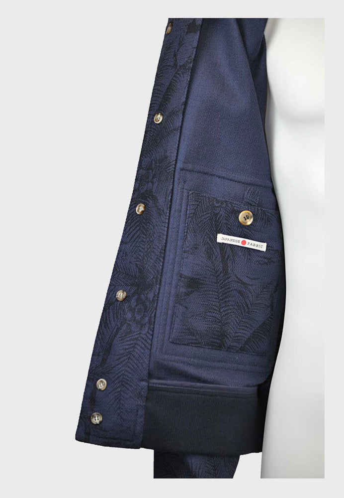Valstar | Valstarino Jacket Japanese Printed Cotton | Marine Navy