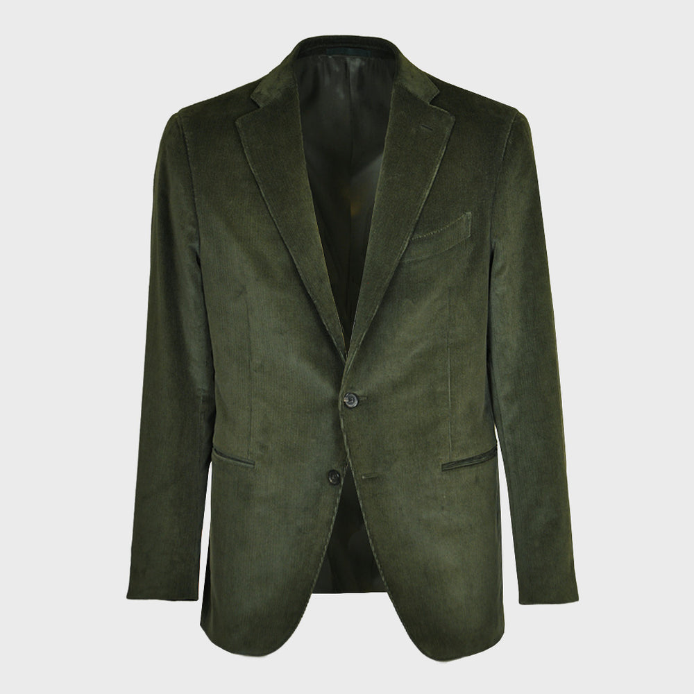 Caruso Men's Velvet Jacket | Moss Green