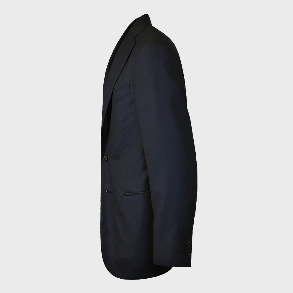 Caruso Men's Jacket Wool Navy Blue