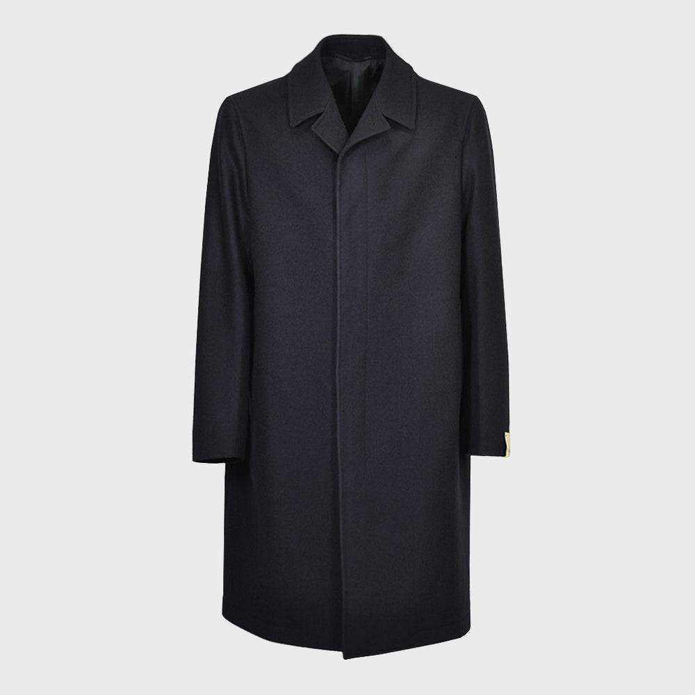 Caruso Men's Wool Coat | Blu