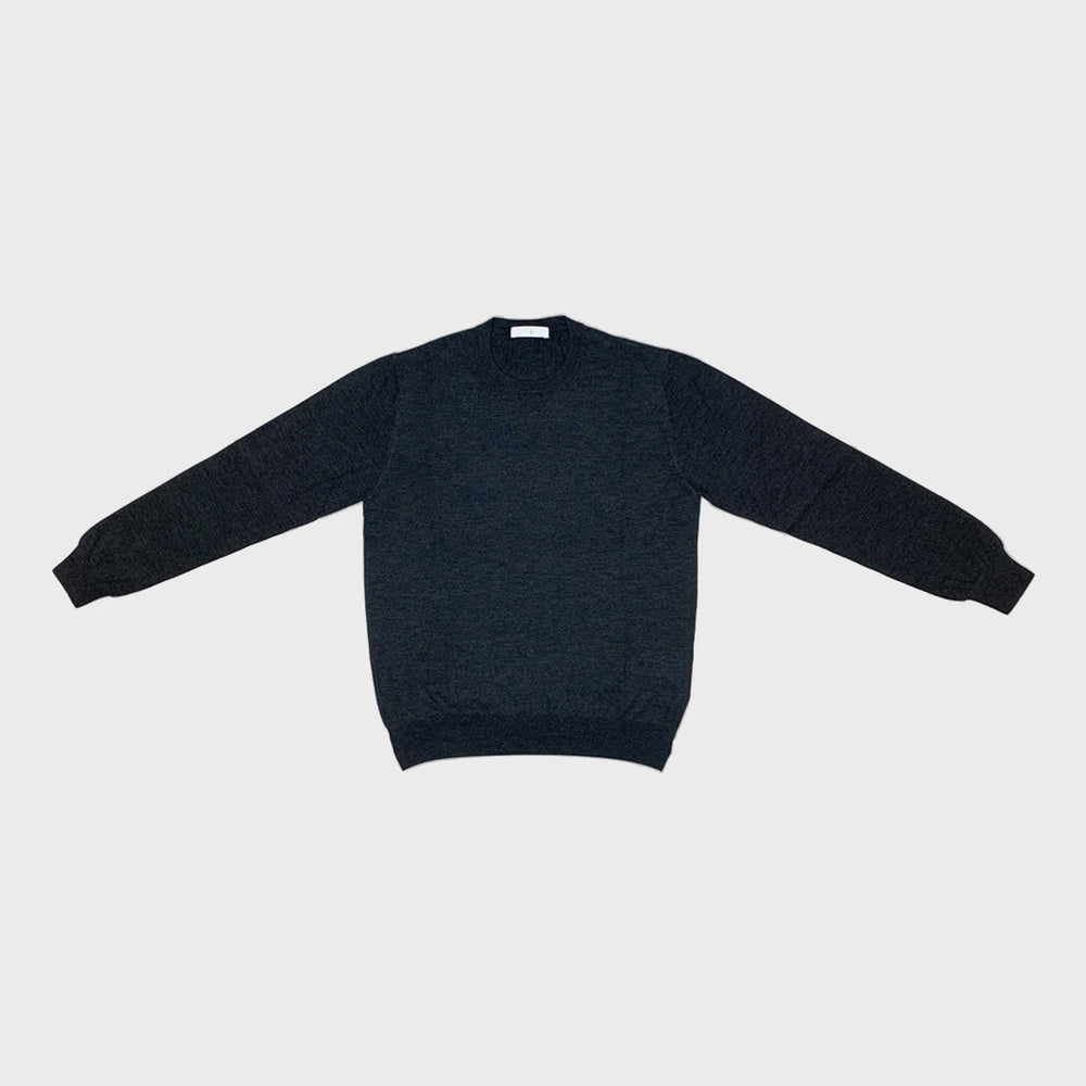 Cruciani | Men's Crewneck Sweater Cashmere & Silk | Grey London