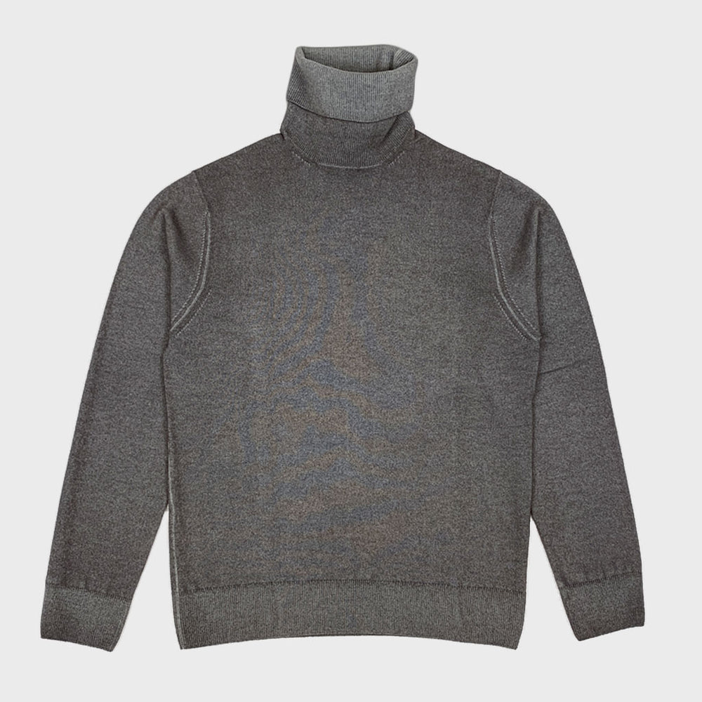 Cruciani | Men's Turtleneck Cashmere Jumper | Peanut Brown