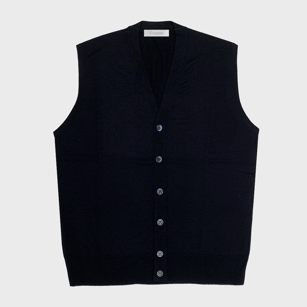 Cruciani Men's Wool Vests Gilet Blu