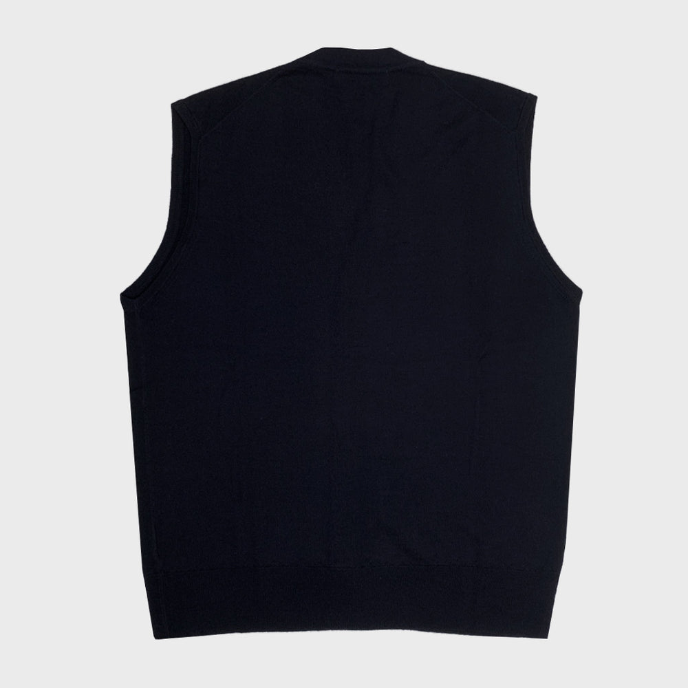 Cruciani | Men's Wool Vests | Dark Blu