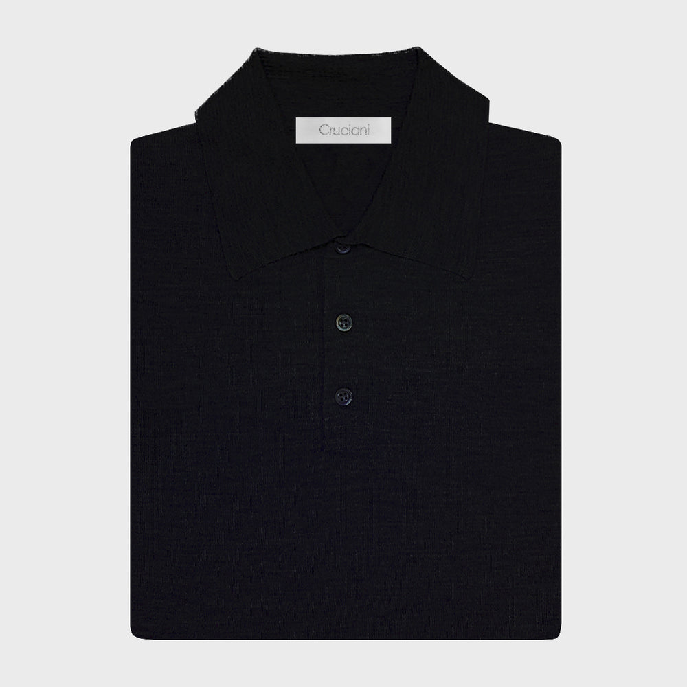 Cruciani | Men's Polo Cashmere & Silk | Night Blu
