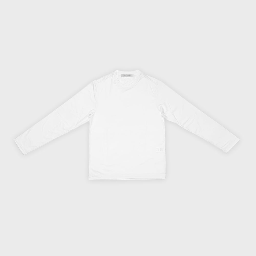 Cruciani | Men's T-Shirt Ossigeno Cotton Long Sleeve | White