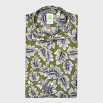 Finamore Cotton Shirt Tokio Leaves Fantasy Print