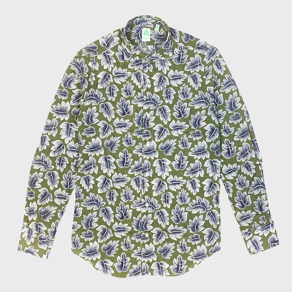 Finamore Cotton Shirt Tokio | Leaves Fantasy Print