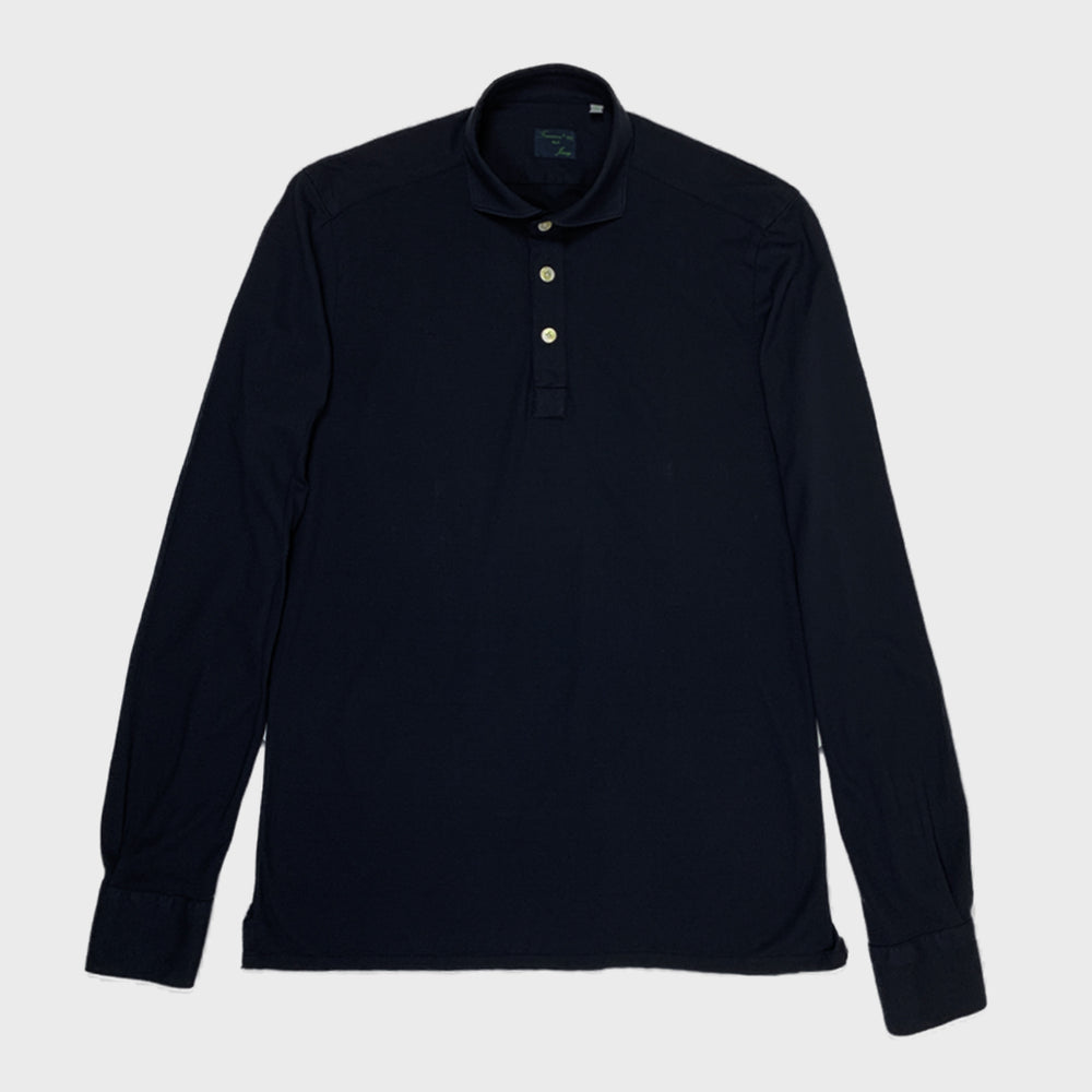 Finamore Jersey Cotton Polo Shirt Orlando | Blu