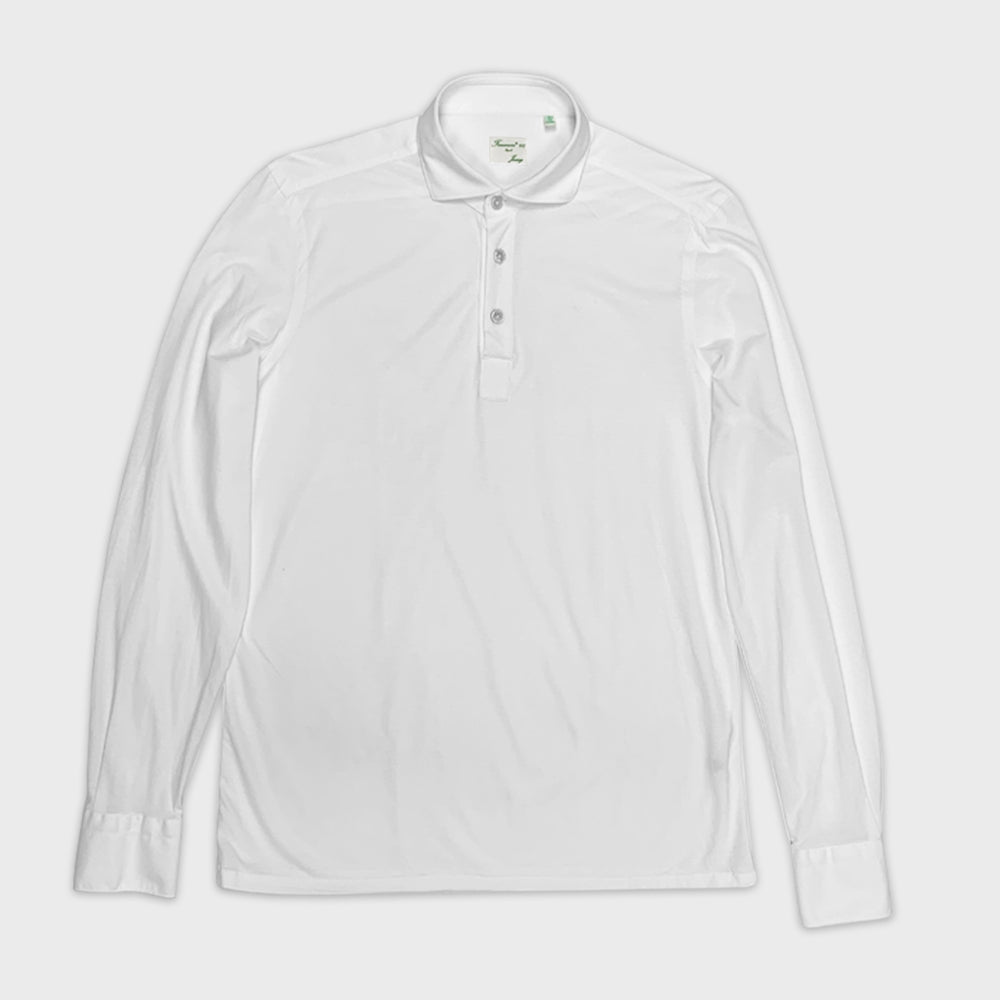 Finamore Jersey Cotton Polo Shirt Orlando | White