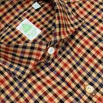 Finamore Men's Casual Checked Shirt Cotton Flannel | Camel