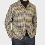 Finamore Men's Wool Checked Shirt Jacket