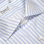Finamore Men's Shirt Double Twisted Cotton Fabric Stripes