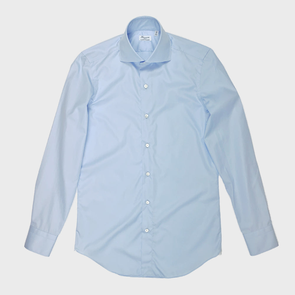Finamore Men's Two Ply Shirt Cotton | Light Blu
