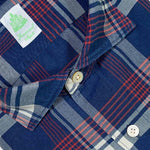 Finamore Men's Indigo Tartan Shirt Cotton