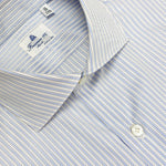 Finamore Men's Multi Stripe Shirt Cotton | Blu