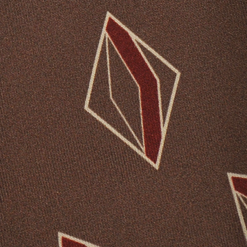 F.Marino Handmade Silk Tie 3-Fold Fantasy Geometry | Copper