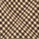 F.Marino Handmade Wool Tie 3-Fold Check Brown