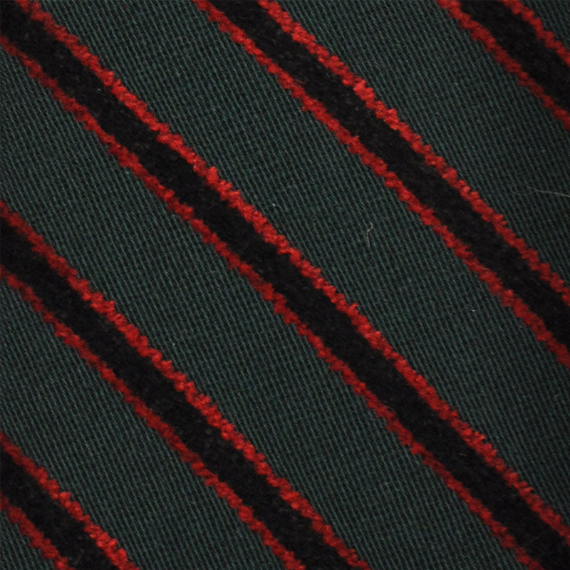 F.Marino Handmade Tie 3-Fold Holland&Sherry Wool Regimental Velvet