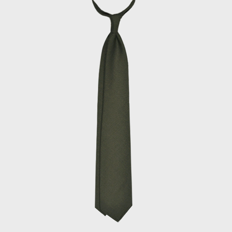 F.Marino Handmade Tie 3-Fold Holland&Sherry Wool Loden Green
