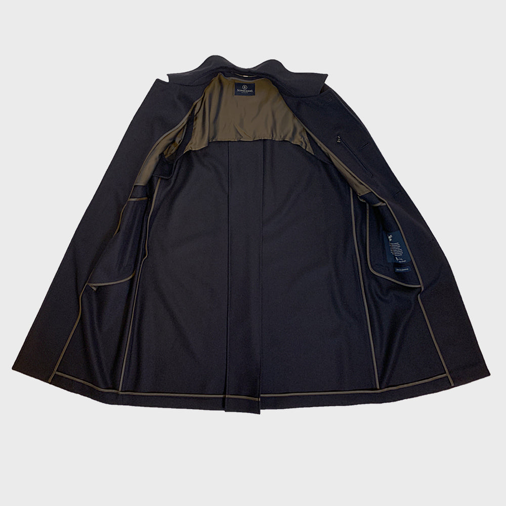 Schneiders | Men's Loden Coat Hubertus | Navy Blue