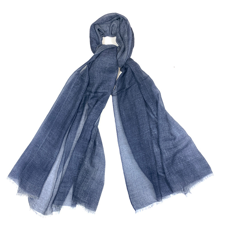 Luxury Cashmere Scarf Handmade 19andreas47 Denim