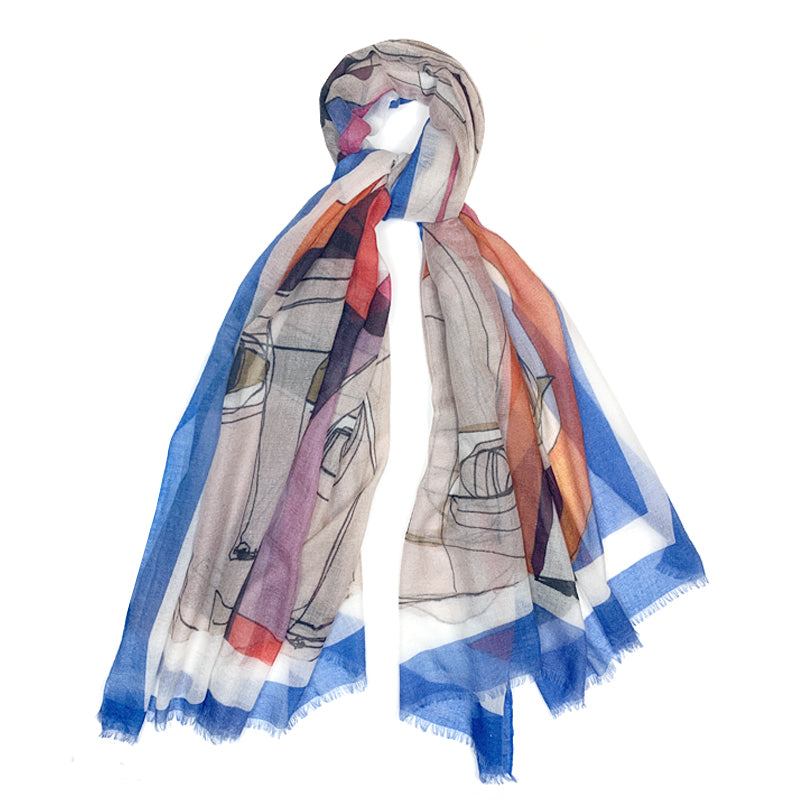 Luxury Cashmere Scarf Handmade 19andreas47 Faces