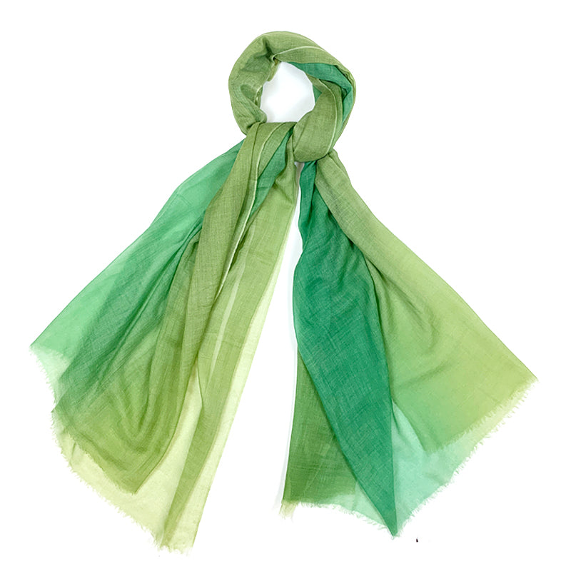 Luxury Cashmere Scarf Handmade 19andreas47 Airbrush Green