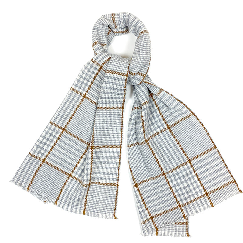 Luxury Cashmere Scarf Handmade 19andreas47 Caramel Check