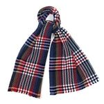Luxury Cashmere Scarf Handmade 19andreas47 Glencheck Red