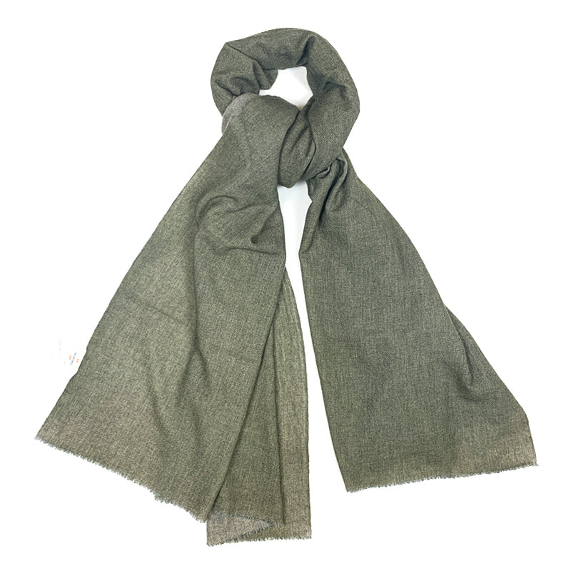 Luxury Cashmere Scarf Handmade 19andreas47 Military Green
