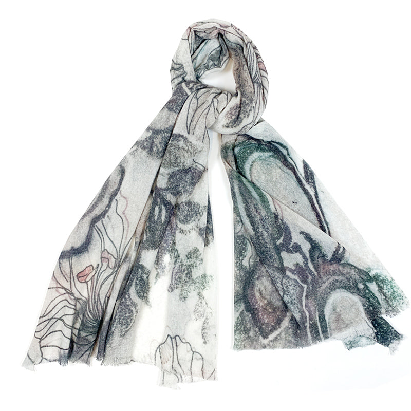 Luxury Cashmere Scarf Handmade 19andreas47 Liberty Drawing