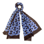 Luxury Cashmere Silk Scarf Handmade 19andreas47 Maiolica Brown