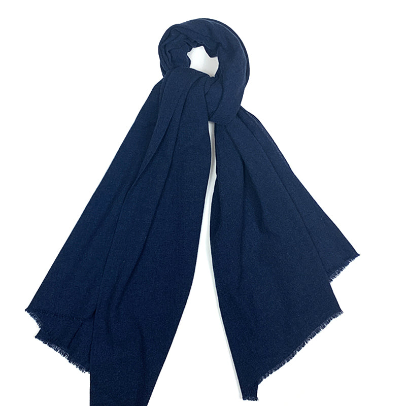 Luxury Cashmere Scarf Handmade 19andreas47 Blue