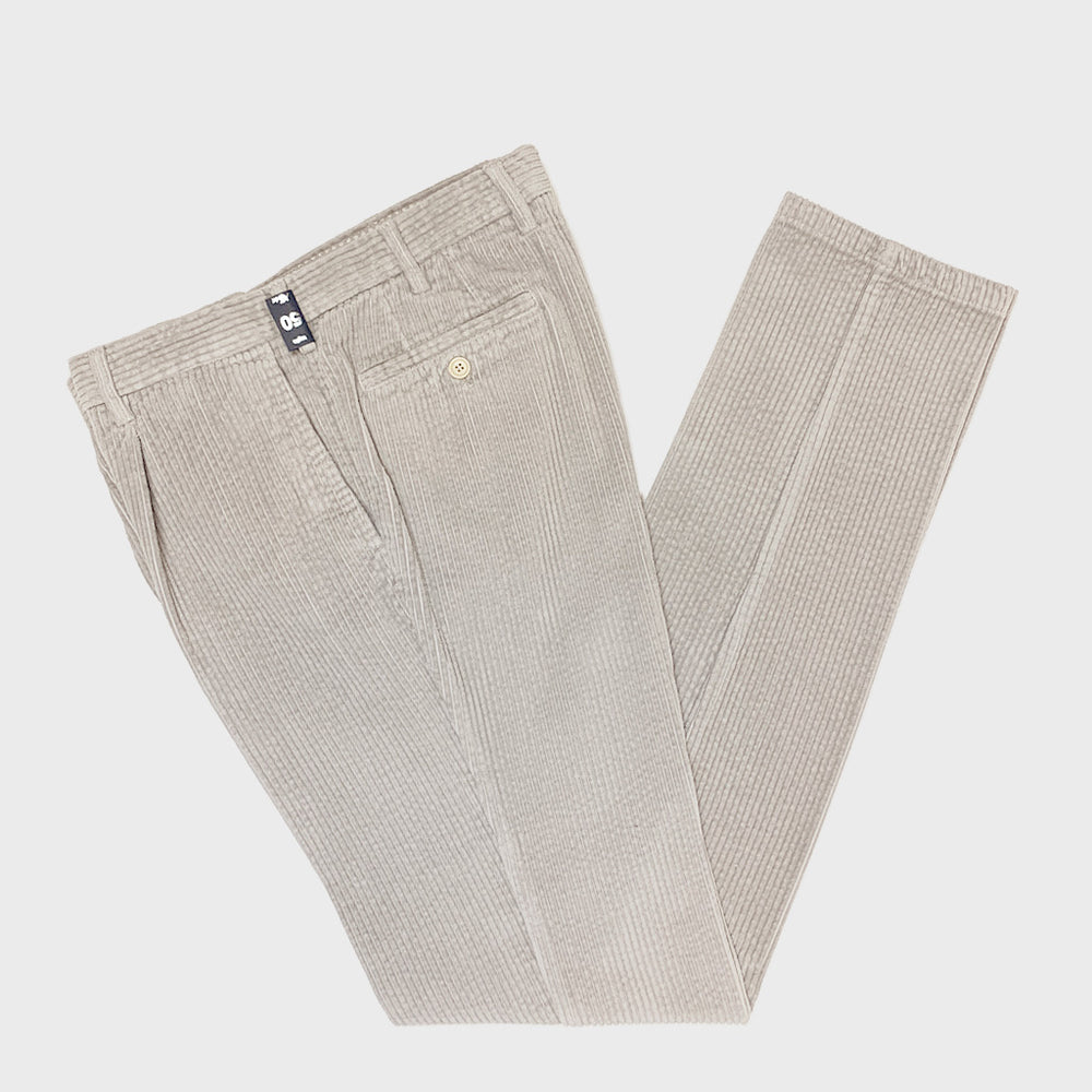 Rota Pantaloni Men's Corduroy Cotton Trousers Sand
