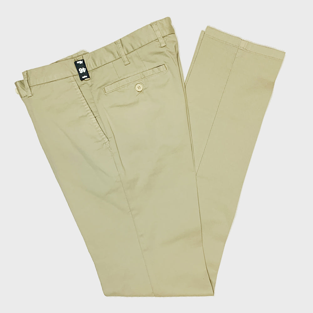 Rota | Men's Handmade Cotton Trousers Chinos | Beige