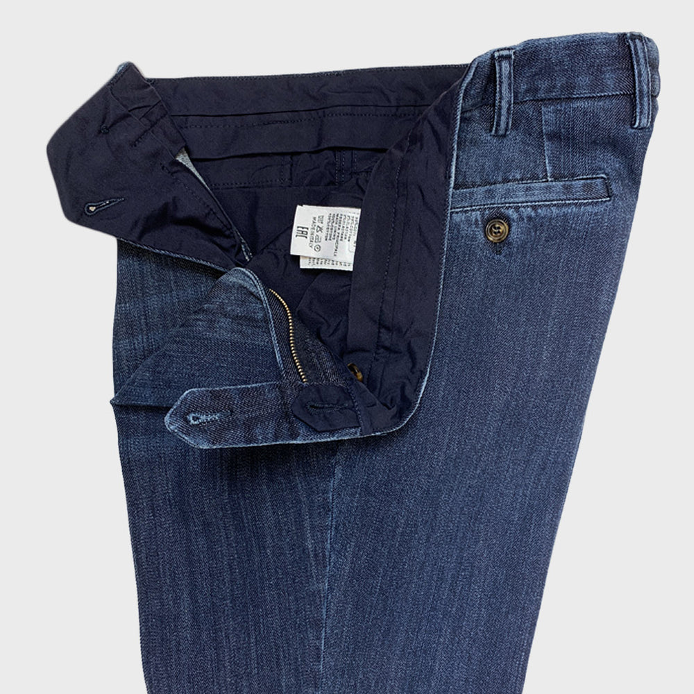 Rota Men's Jeans Trousers Single Pleats Kurabo Denim