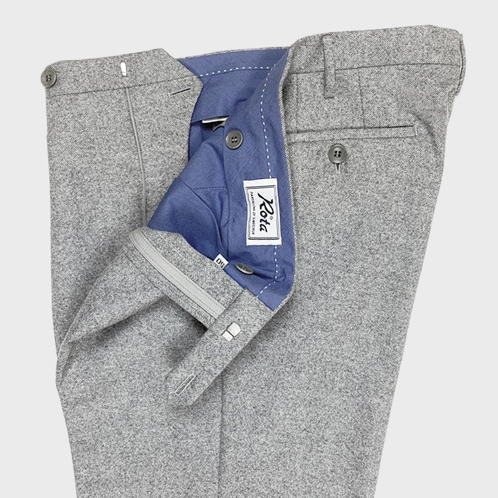 Rota | Men's Wool Trousers | Ice Grey