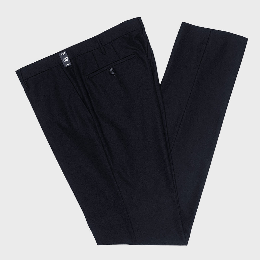 Rota | Men's Wool Trousers Whitout Pleats | Blu