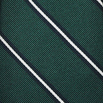F.Marino Handmade 3-Fold Untipped Regimental Silk Tie | Emerald