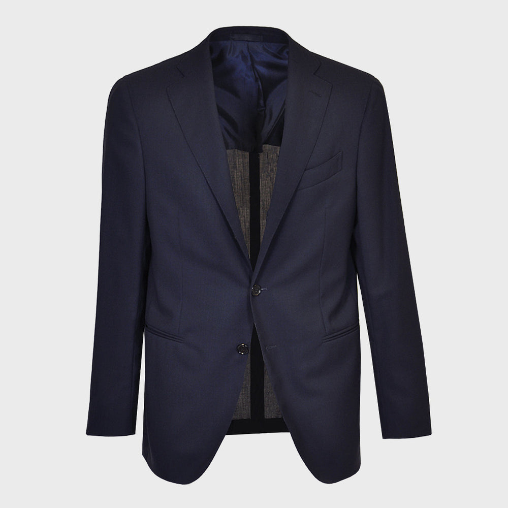 Caruso Men's Suit 130s Wool for Spring Summer Blu