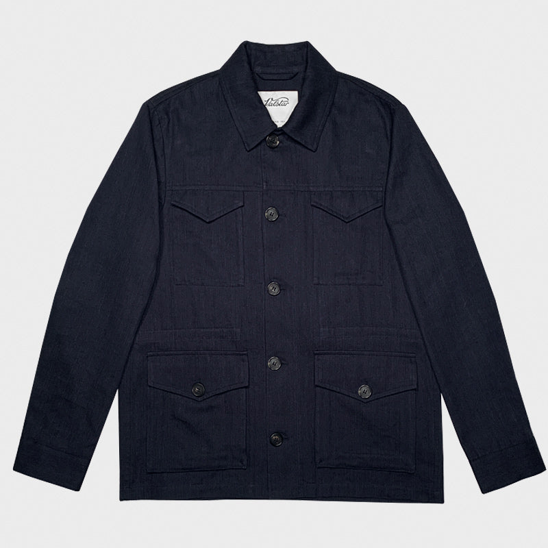 Valstar Men's Field Jacket Herringbone Navy