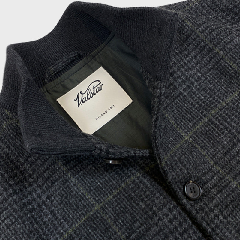 Valstarino Flight Jacket Fox Flannel Wool Prince of Galles