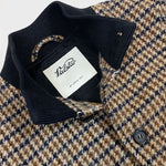 Valstarino Flight Jacket Houndstooth Wool and Alpaca