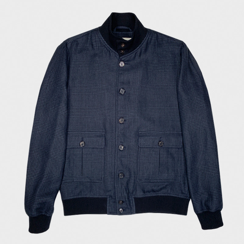 Valstarino Jacket Linen Cotton Prince of Wales