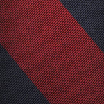 F.Marino Handmade 3-Fold Untipped Regimental Silk Tie | Red Block
