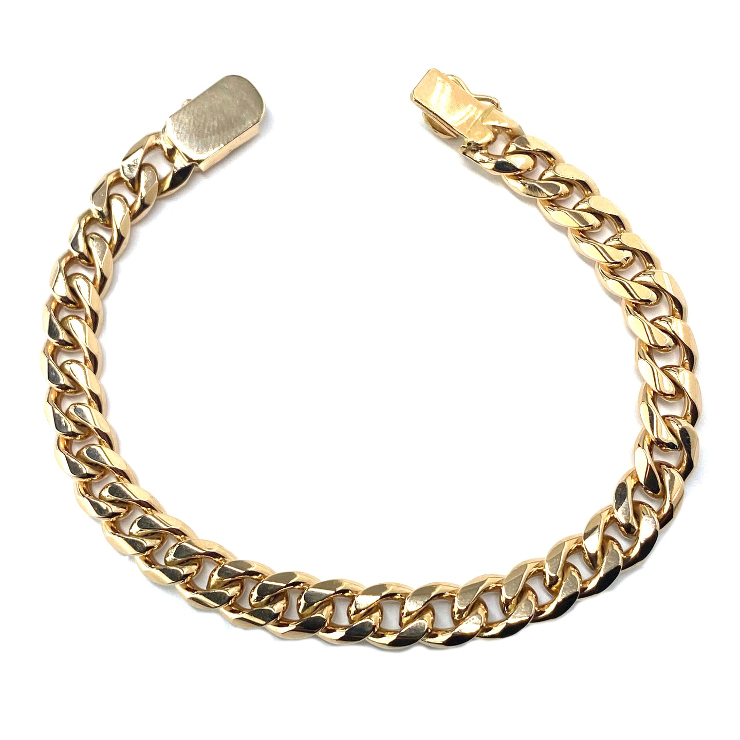 Oval Rose Gold Link Bracelet in 18k