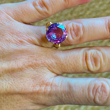 Load image into Gallery viewer, Synthetic Alexandrite Ring in 14k