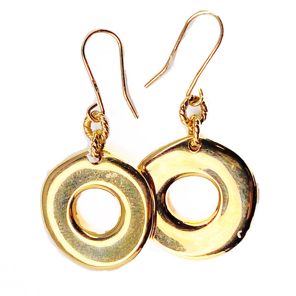 Circle Earrings in 14k
