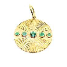 Load image into Gallery viewer, Emerald Pendant in 14k